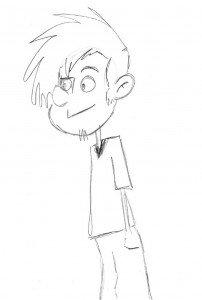 voici le brouillon de l'un de mes nombreux personnages